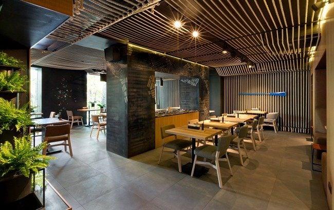 4Odessa Restaurant by YOD Design Lab 00003 Nhà hàng với không gian độc đáo trang trí bằng dây thừng qpdesign