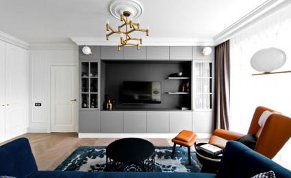 Căn hộ trang trí với nội thất bán cổ điển