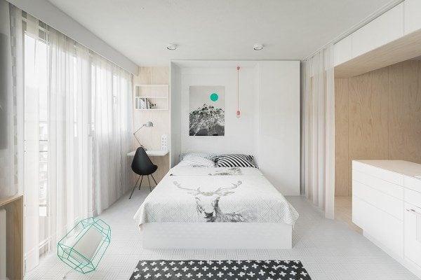 5modern murphy bed 600x400 Câu chuyện thiết kế của những căn hộ dưới 50m2 qpdesign