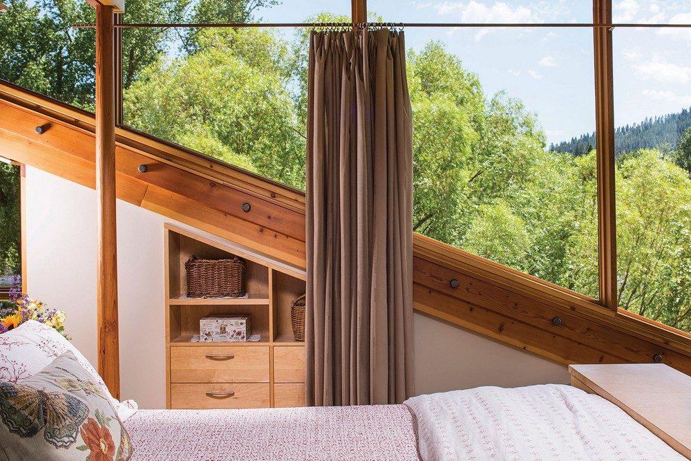 montana glass home with lots of wood in decor 7 Hòa mình cùng thiên nhiên trong ngôi nhà gỗ tuyệt đẹp ở MONTANA qpdesign
