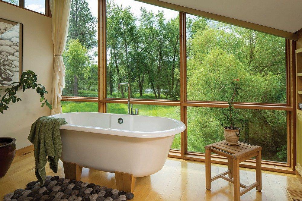 montana glass home with lots of wood in decor 8 Hòa mình cùng thiên nhiên trong ngôi nhà gỗ tuyệt đẹp ở MONTANA qpdesign