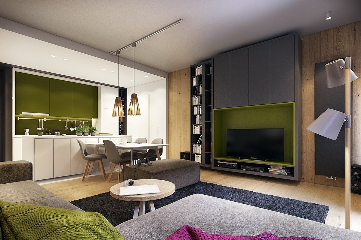 2-dark-lime-green-interior-inspiration