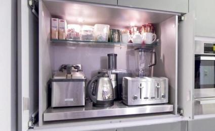 Tiết kiệm không gian bếp với thiết kế tủ lưu trữ sáng tạo