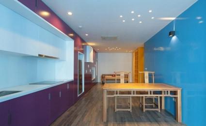 Cá tính khác biệt trong căn hộ sinh đôi ở Hà Nội