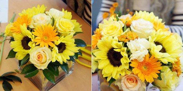 Mách bạn 4 mẫu cắm hoa để bàn rực rỡ sắc màu mùa xuân
