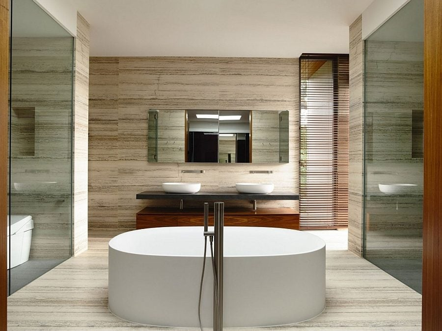 Spa-like-contemporary-bath-with-freestanding-tub