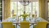 Yellow plays the lead role in this cheerful dining room 100x57 Sự kết hợp giữa xám   vàng trong trang trí nội thất phòng ăn qpdesign