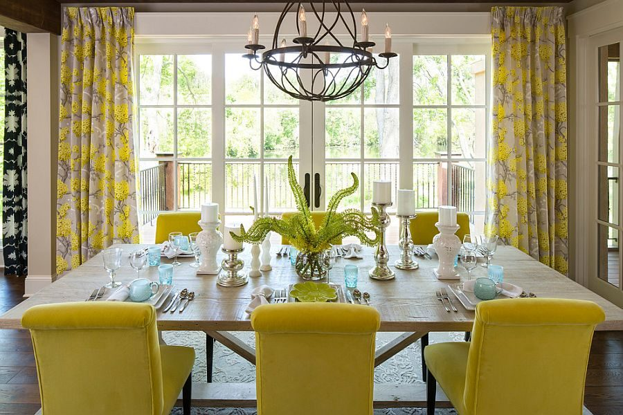 Yellow-plays-the-lead-role-in-this-cheerful-dining-room