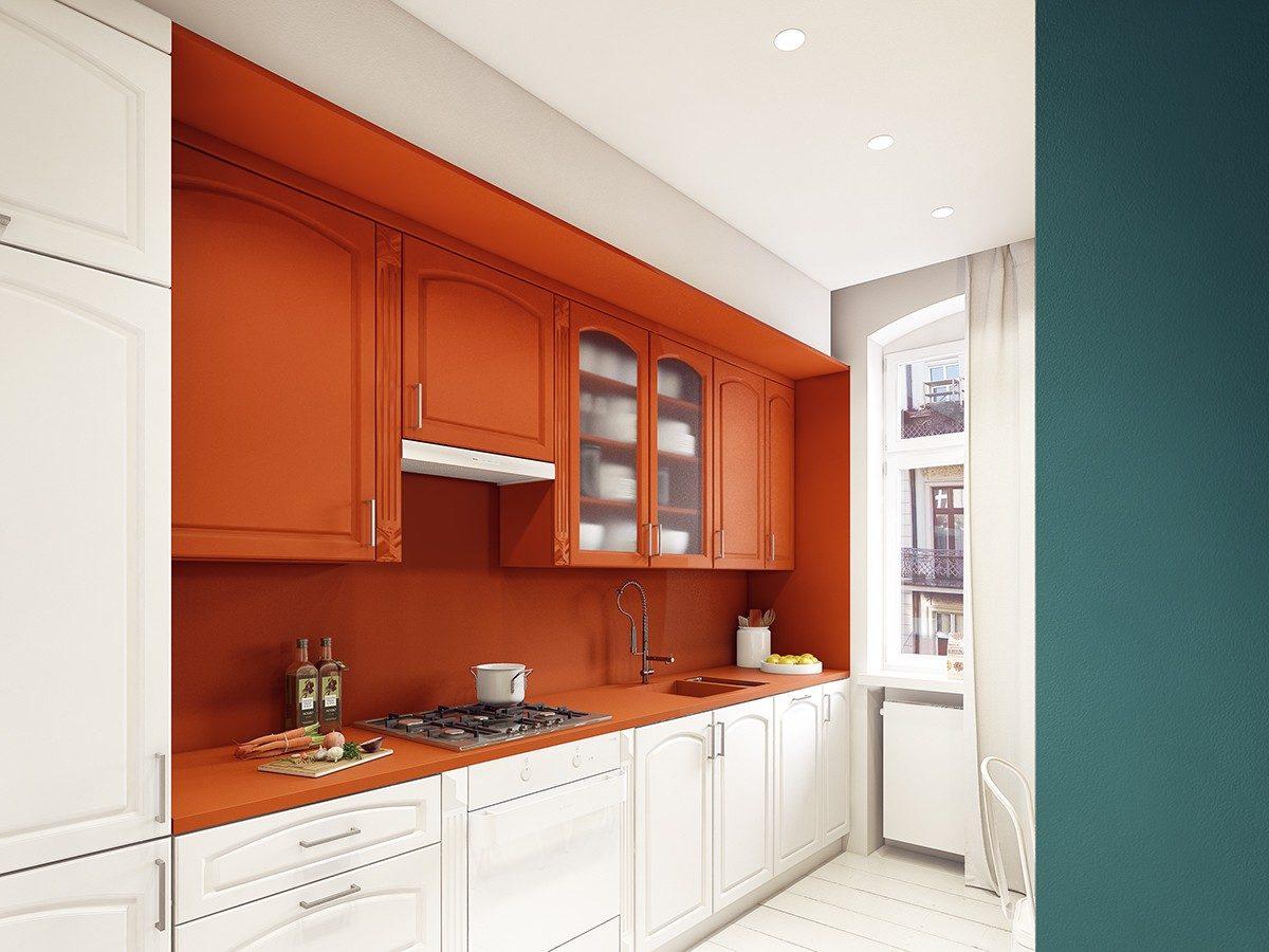 geometric kitchen Căn hộ hiện đại tuyệt đẹp với thiết kế đầy màu sắc qpdesign