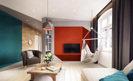 Căn hộ hiện đại tuyệt đẹp với thiết kế đầy màu sắc