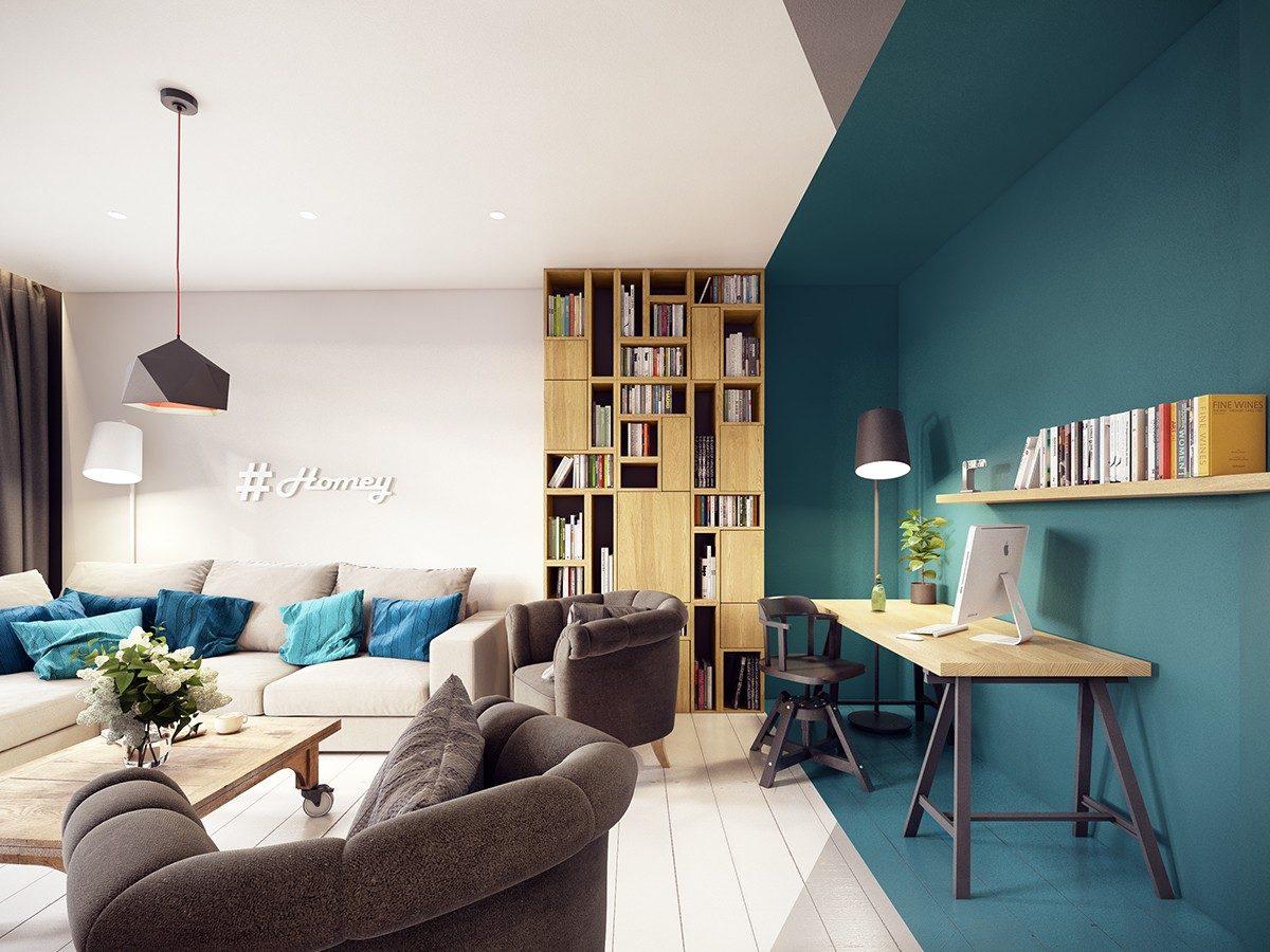 interior optical illusion inspiration Căn hộ hiện đại tuyệt đẹp với thiết kế đầy màu sắc qpdesign
