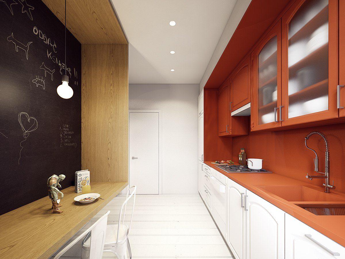 orange-kitchen-countertop