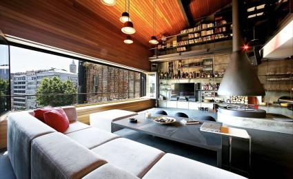 Ngắm căn hộ Penthouse phong cách Công nghiệp tại Istanbul