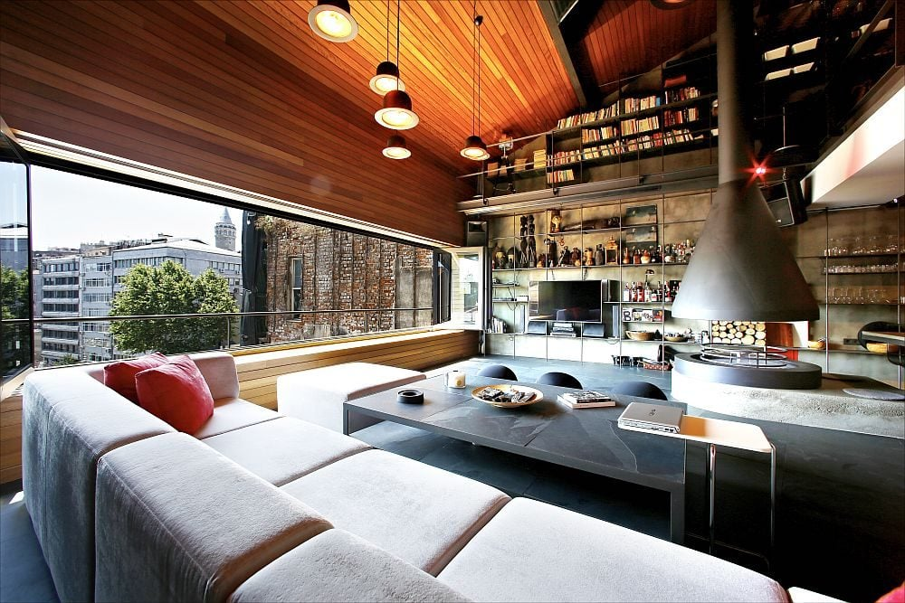 Exquisite-living-room-of-the-penthouse-loft-in-Istanbul