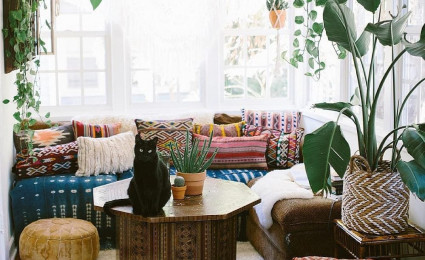 9 cách trang trí nội thất phòng khách theo phong cách Bohemian