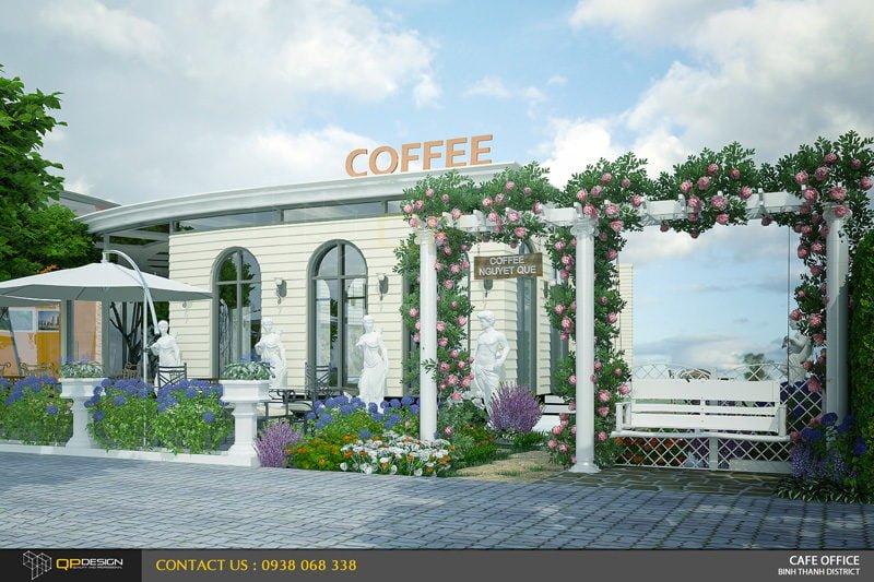Thiết kế quán cà phê sân vườn Nguyệt Quế 1