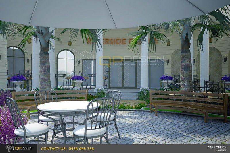 Thiết kế quán cà phê sân vườn Nguyệt Quế 3