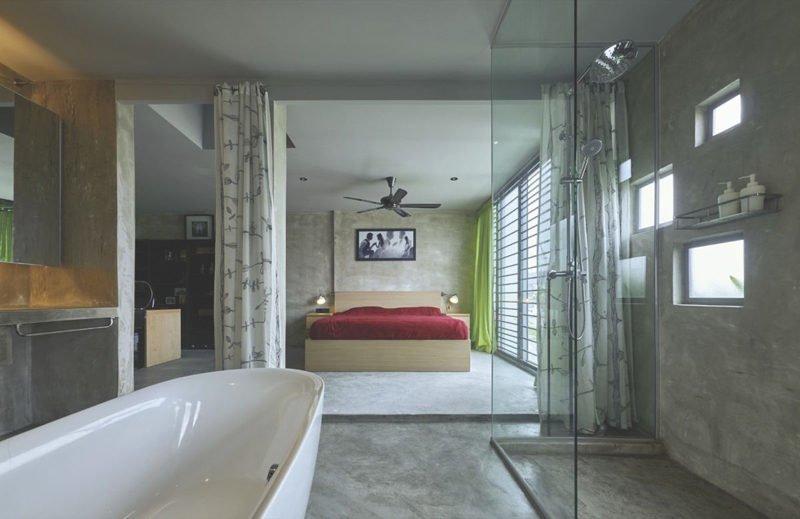 e 2 1460607432 1200x0 Ngôi nhà ống phủ cây xanh mướt tại Malaysia qpdesign