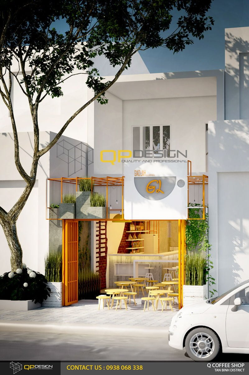 giao linh cafe 1 Thiết Kế Nội Thất Cafe Giao Linh qpdesign
