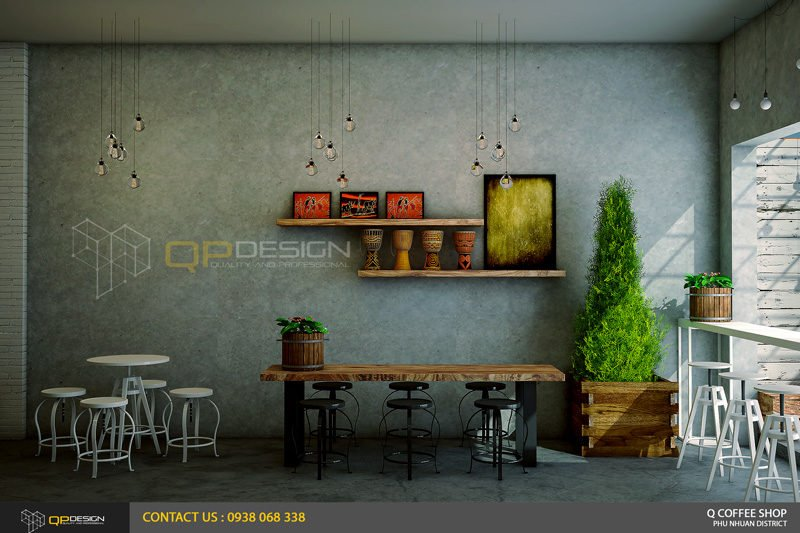 giao linh cafe 11 Thiết Kế Nội Thất Cafe Giao Linh qpdesign