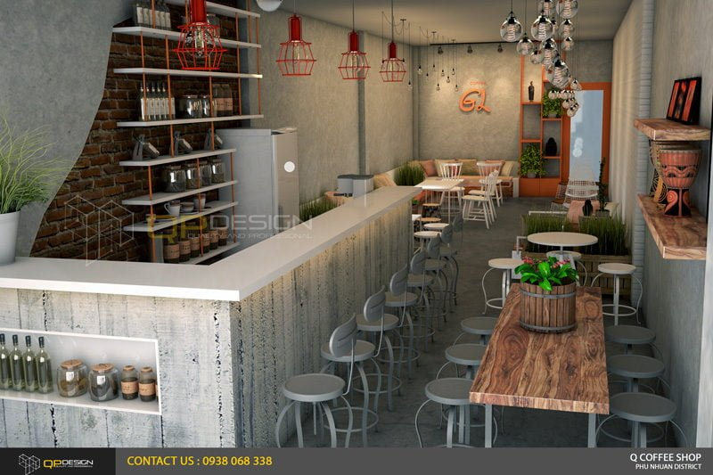 giao linh cafe 12 Thiết Kế Nội Thất Cafe Giao Linh qpdesign
