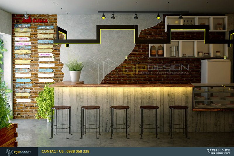 giao linh cafe 2 Thiết Kế Nội Thất Cafe Giao Linh qpdesign