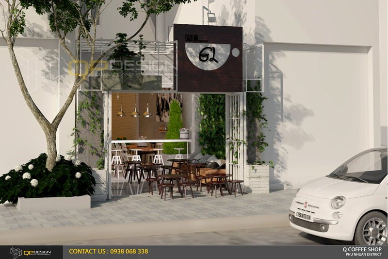 giao linh cafe 3 Thiết Kế Nội Thất Cafe Giao Linh qpdesign