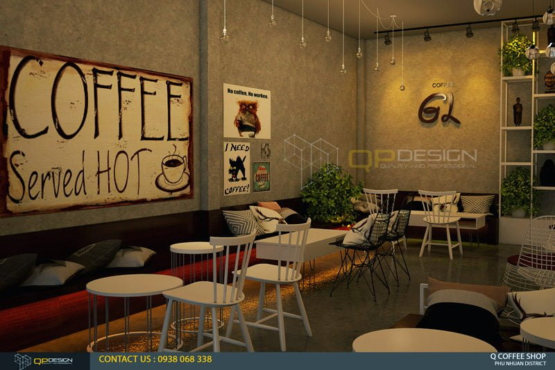 giao linh cafe 5 Thiết Kế Nội Thất Cafe Giao Linh qpdesign