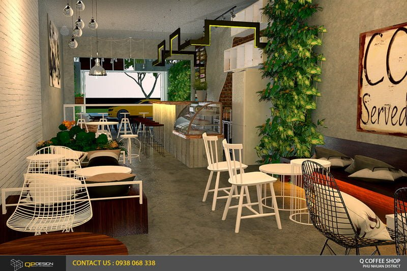 giao linh cafe 9 Thiết Kế Nội Thất Cafe Giao Linh qpdesign