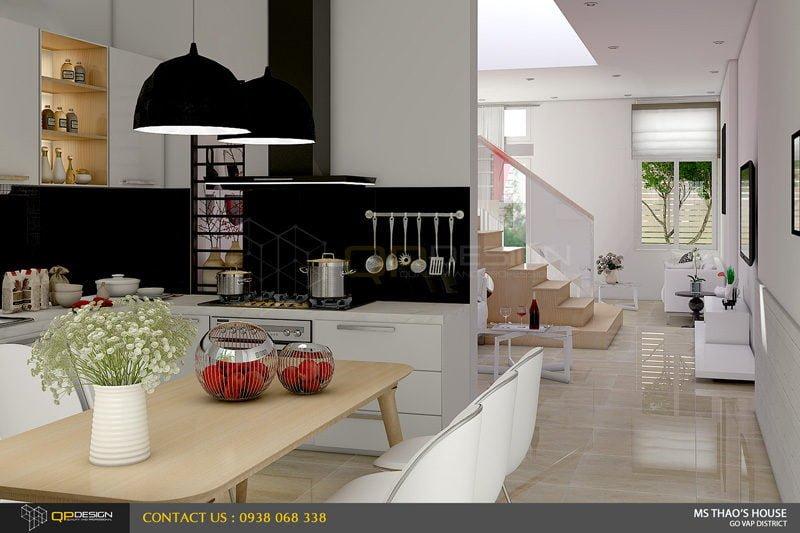 ms thao house 11 Thiết kế kiến trúc – nội thất nhà phố MS THẢO qpdesign