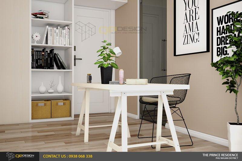 NOI THAT THE PRINCE 12 Thiết kế nội thất căn hộ chung cư 104m2   12 04 The Prince Residence qpdesign