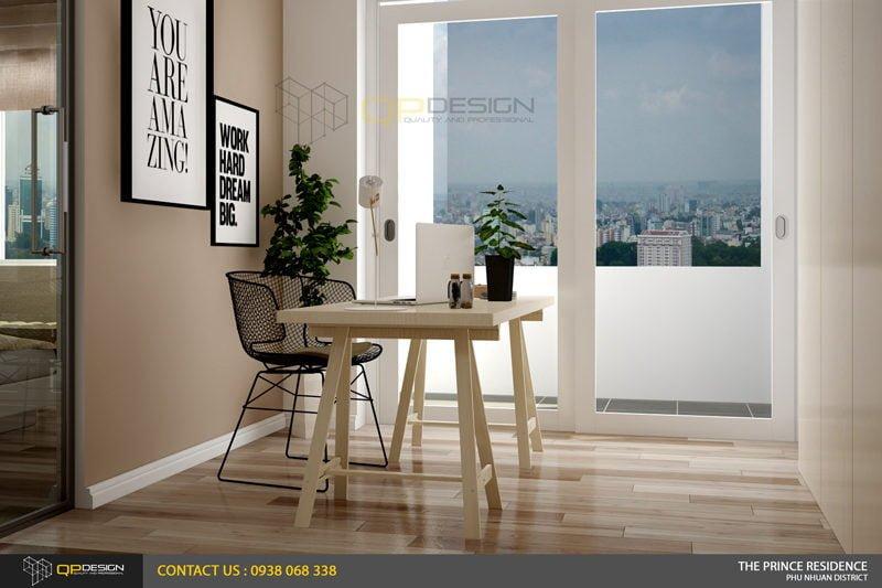 NOI THAT THE PRINCE 13 Thiết kế nội thất căn hộ chung cư 104m2   12 04 The Prince Residence qpdesign