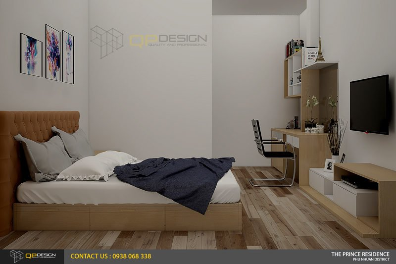NOI THAT THE PRINCE 15 Thiết kế nội thất căn hộ chung cư 104m2   12 04 The Prince Residence qpdesign