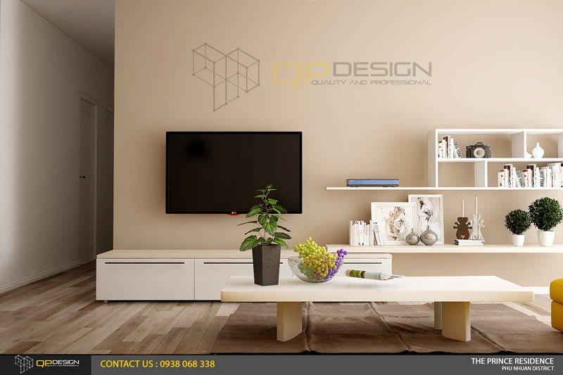NOI THAT THE PRINCE 2 Thiết kế nội thất căn hộ chung cư 104m2   12 04 The Prince Residence qpdesign