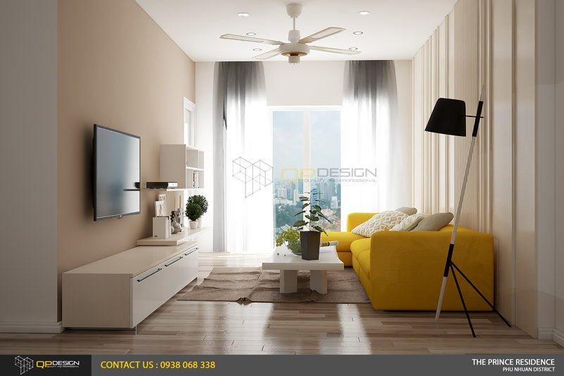 NOI THAT THE PRINCE 3 Thiết kế nội thất căn hộ chung cư 104m2   12 04 The Prince Residence qpdesign