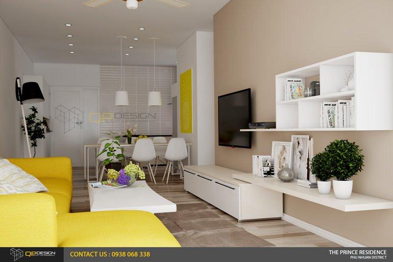 NOI THAT THE PRINCE 4 Thiết kế nội thất căn hộ chung cư 104m2   12 04 The Prince Residence qpdesign