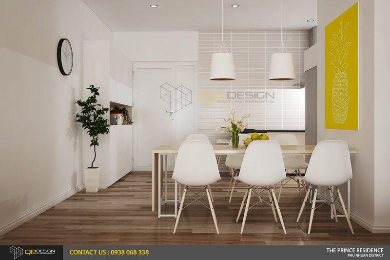NOI THAT THE PRINCE 5 Thiết kế nội thất căn hộ chung cư 104m2   12 04 The Prince Residence qpdesign