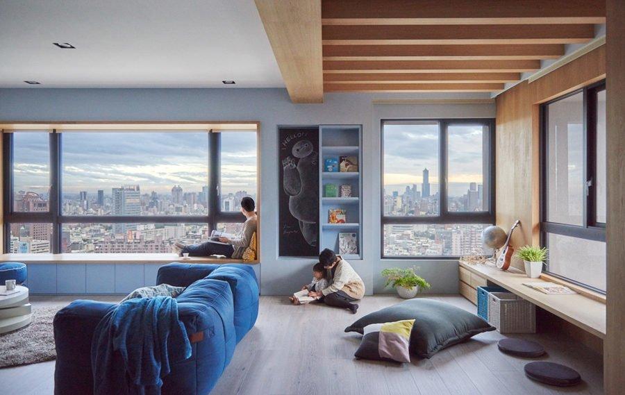 Căn hộ đa năng tại Đài Loan với thiết kế lý tưởng cho trẻ nhỏ