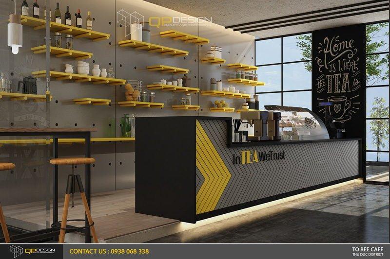 Thiết kế quán Trà Sữa Tobee