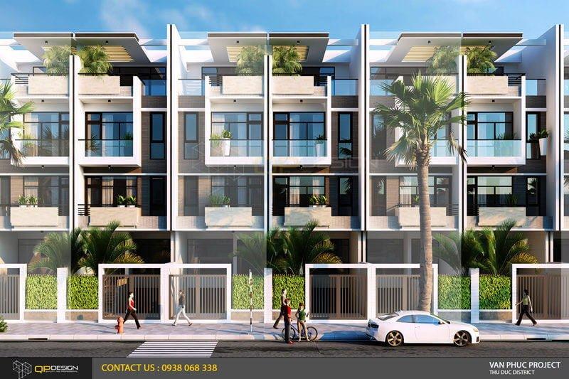 Thiết kế khu nhà liên kế dự án Vạn Phúc Riverside City - mẫu J26