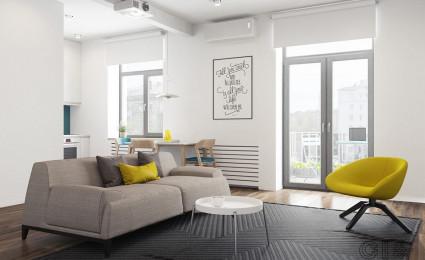 Hô biến căn hộ dưới 50m2 thành không gian rộng rãi và cá tính