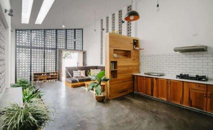 Ngôi nhà 90m² với thiết kế vận dụng tường gạch tuyệt vời tại Kontum