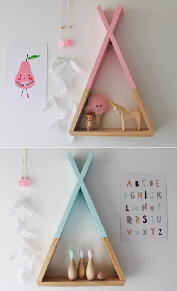 cute shabby chic shelves for kids 600x983 Những mẫu kệ treo tường đẹp và độc đáo qpdesign