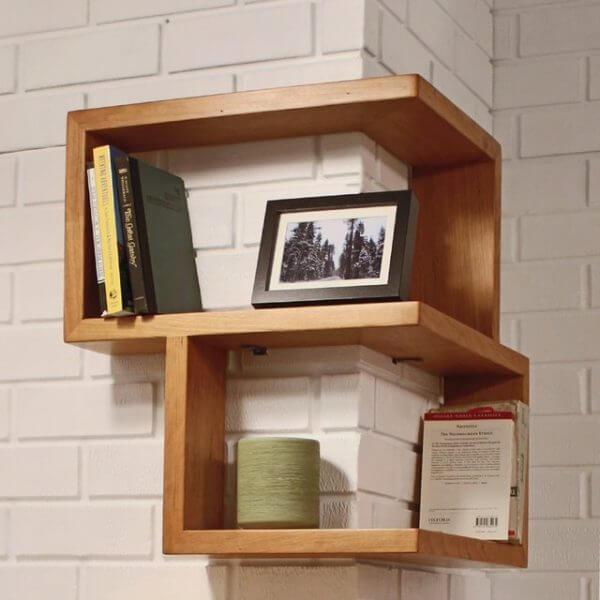 outer corner wood wall shelves 600x600 Những mẫu kệ treo tường đẹp và độc đáo qpdesign