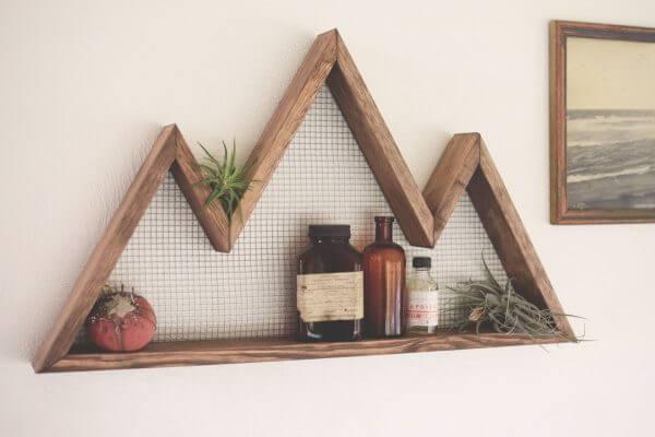 rustic floating shelves 600x400 Những mẫu kệ treo tường đẹp và độc đáo qpdesign
