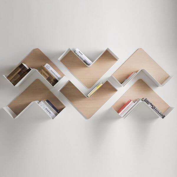 unique bookshelf ideas 600x600 Những mẫu kệ treo tường đẹp và độc đáo qpdesign