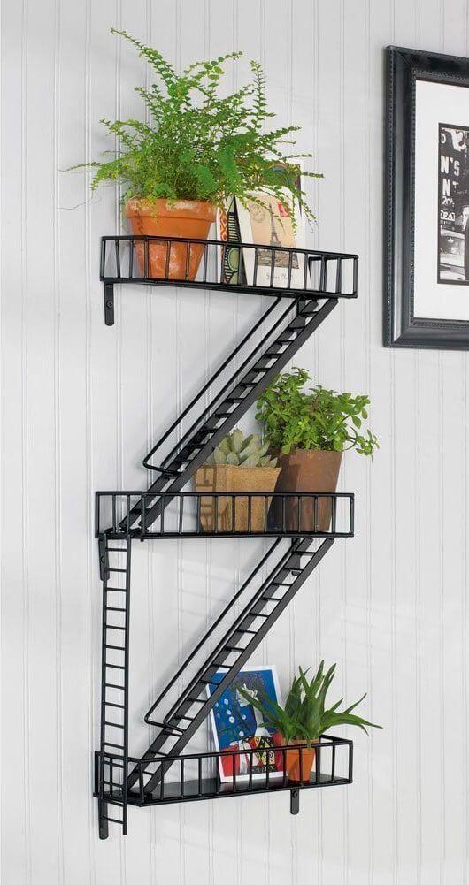 urban industrial wall shelf Những mẫu kệ treo tường đẹp và độc đáo qpdesign