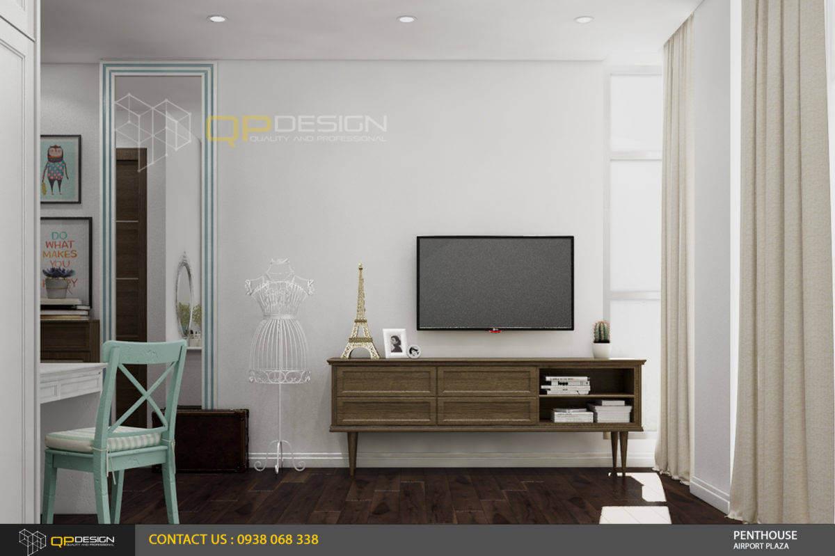 thiết kế phòng ngủ nữ mang phong cách vintage căn hộ penthouse