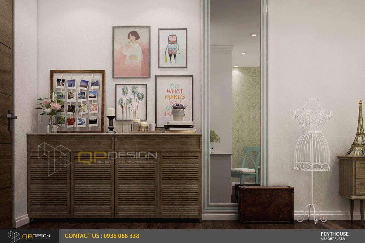thiết kế phòng ngủ nữ căn hộ penthouse