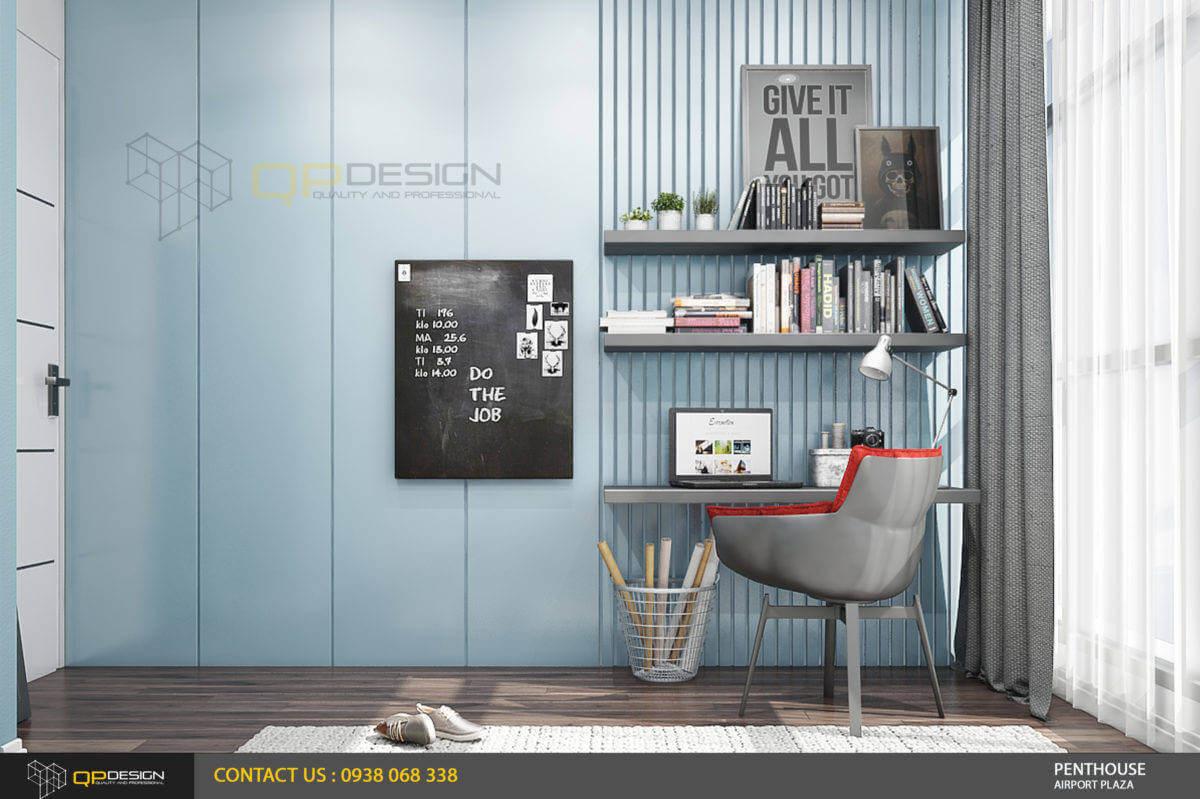 thiết kế phòng làm việc căn hộ penthouse